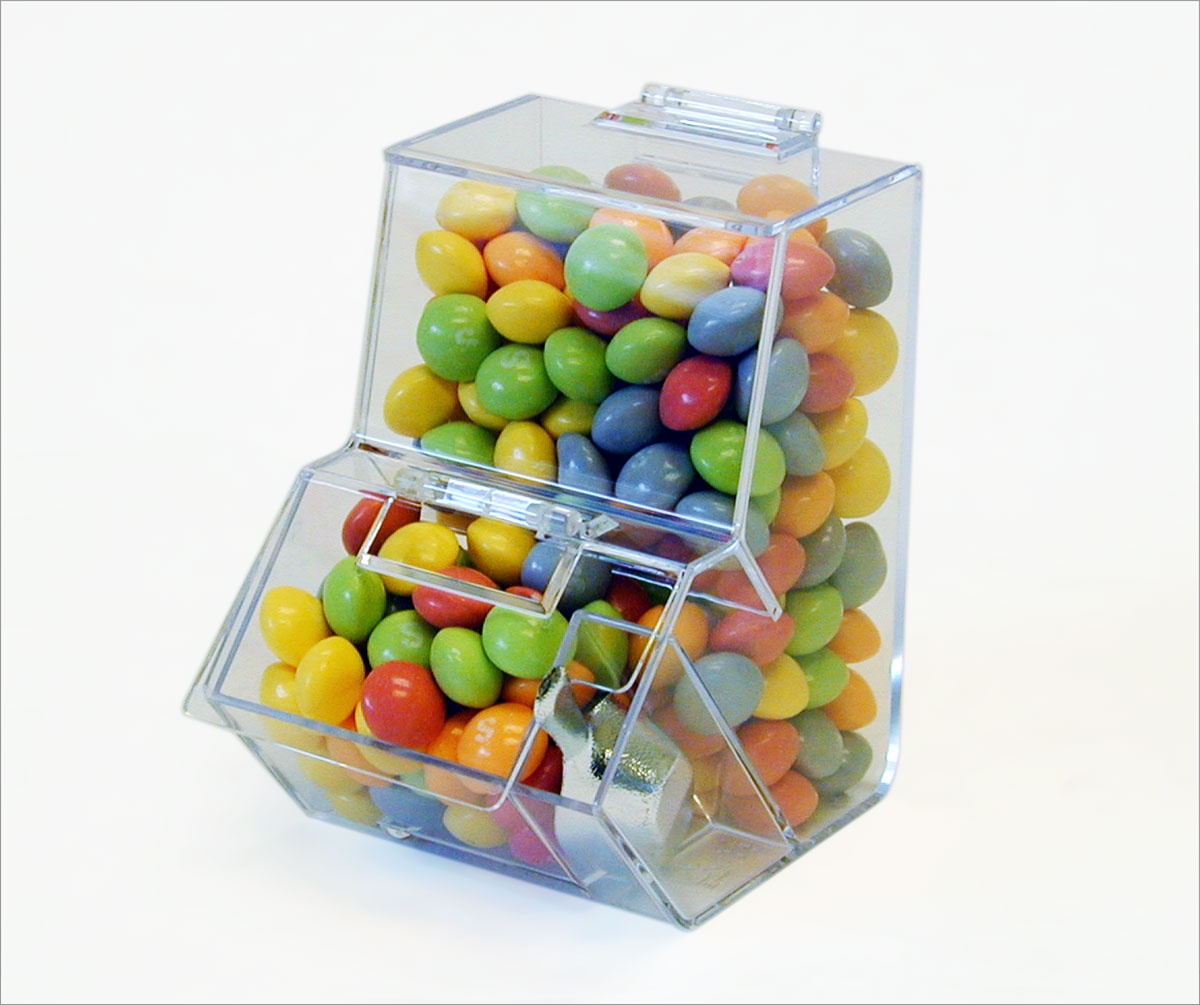 Mini Double Decker Acrylic Candy Bins Wholesale Ideal