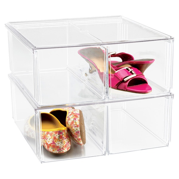 Acrylic shoe boxes : Acrylic stacking boxes for shoes ideal
