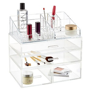 luxe acrylic makeup display