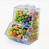 Mini Double Decker Acrylic Candy Bins