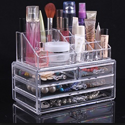 Acrylic Makeup and Jewelry Storage Box