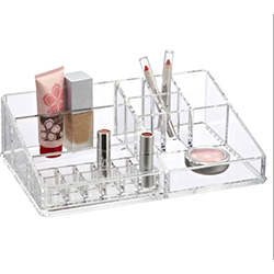 Acrylic Makeup Storage Display with Dispensers