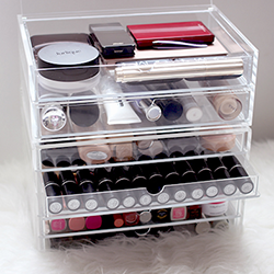 Acrylic Cosmetic Storage Box with Drawers