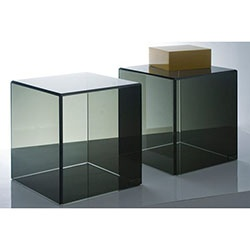 Smoky Acrylic End Table