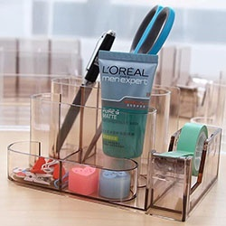 Multifunctional acrylic stationery holder