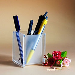 Square  Acrylic Pen holder with magnet