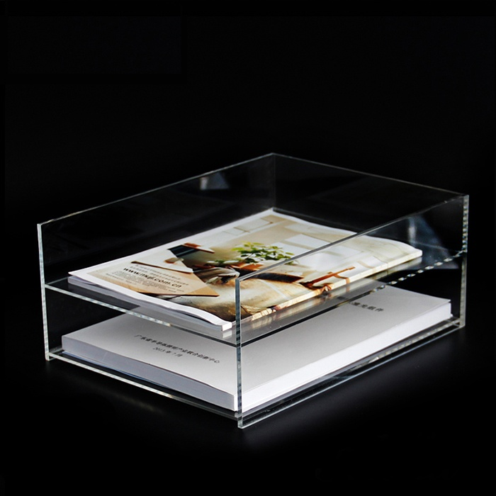 Clear Acrylic File Holder With 2 Tiers