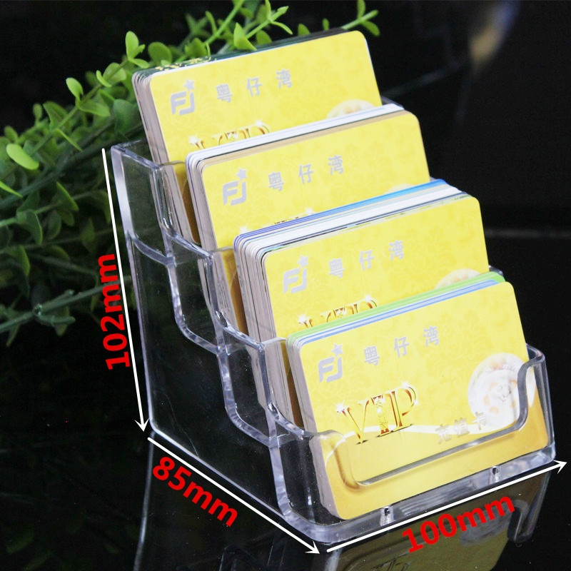 Four Tiers Acrylic Name Card Display Stand Best Business Card Display Stands
