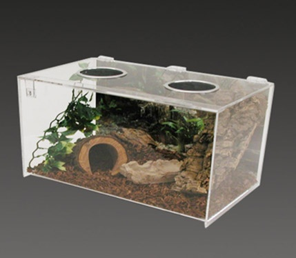 Acrylic transparent pet hamster cage nest
