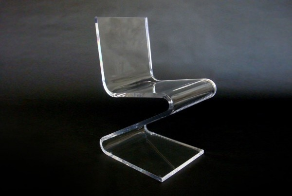 Mid Century Modern Vintage Thick Lucitet Acrylic tabe